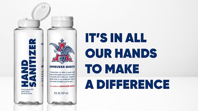 Anheuser Busch sanitizer